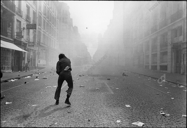 The 1968 May Events, rue Saint Jacques, Paris, France, May 6, 1968.