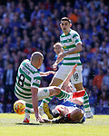 12.05.2019 Rangers v Celtic: Scott Arfield tackles Scott Brown