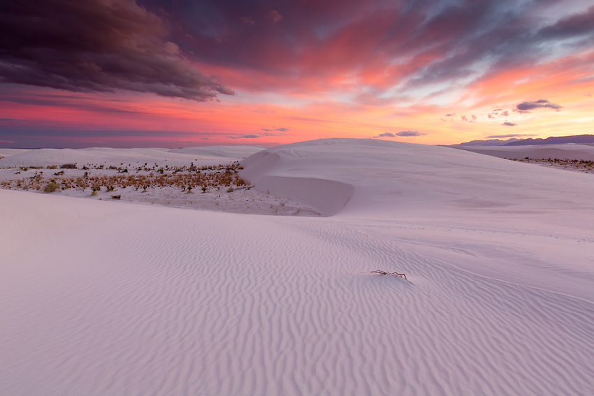 Ripples in gypsum sand dunes, White Sands National Monument, New Mexicio