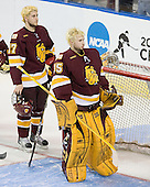 Mike Seidel (Duluth - 17), Kenny Reiter (Duluth - 35) - The University of Minnesota-Duluth Bulldogs defeated the Union College Dutchmen 2-0 in their NCAA East Regional Semi-Final on Friday, March 25, 2011, at Webster Bank Arena at Harbor Yard in Bridgeport, Connecticut.