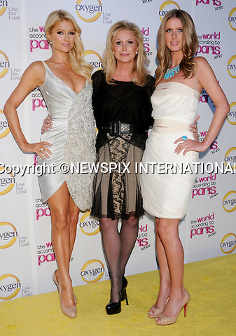 """Paris Hilton, Nicky Hilton and Kathy Hilton.arrives at """"The World According to Paris"""" Premiere Party at the Tropicana Bar at the Hollywood Roosevelt Hotel on May 17, 2011 in Hollywood, California..Mandatory Photo Credit: ©Crosby/Newspix International..**ALL FEES PAYABLE TO: """"NEWSPIX INTERNATIONAL""""**..PHOTO CREDIT MANDATORY!!: NEWSPIX INTERNATIONAL(Failure to credit will incur a surcharge of 100% of reproduction fees)..IMMEDIATE CONFIRMATION OF USAGE REQUIRED:.Newspix International, 31 Chinnery Hill, Bishop's Stortford, ENGLAND CM23 3PS.Tel:+441279 324672  ; Fax: +441279656877.Mobile:  0777568 1153.e-mail: info@newspixinternational.co.uk"""