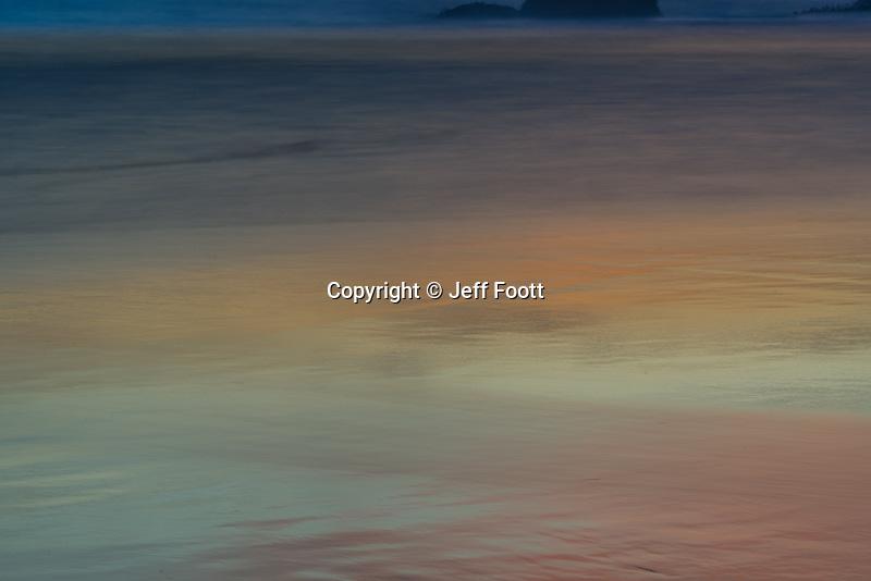 Sunset reflection on ocean at Julia Pfeiffer Burns State Park, California.