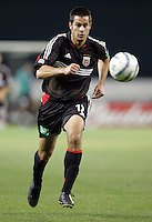 9 April 2005. DC United's Mike Petke (12) sprints for the ball   at RFK Stadium in Washington, DC.