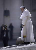 Pope Francis during general audience on St.Peter's square at the Vatican November 14,2018