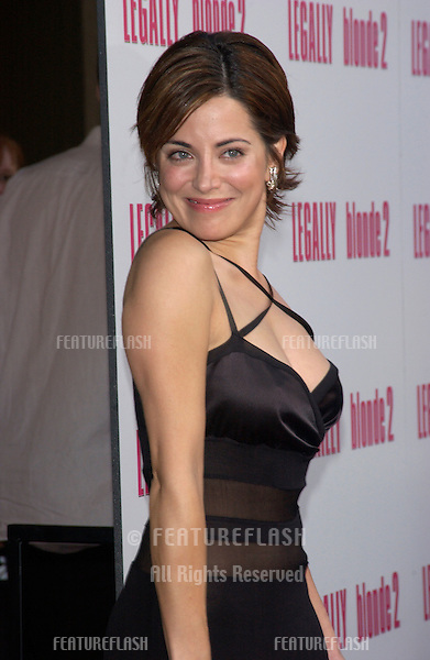 Actress ALANNA UBACH at the Los Angeles premiere of her new movie Legally Blonde 2..July 1, 2003