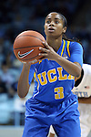 16 November 2014: UCLA's Jordin Canada. The University of North Carolina Tar Heels hosted the University of California Los Angeles Bruins at Carmichael Arena in Chapel Hill, North Carolina in a 2014-15 NCAA Division I Women's Basketball game. UNC won the game 84-68.