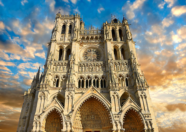 Pictures of Amiens Cathedral, France - Stock Photos