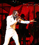 Sahr Ngaujah.during the opening night Curtain Call for the Broadway limited engagement of 'Fela!' at the Al Hirschfeld Theatre on July 12, 2012 in New York City.