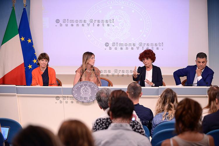 Roma,18 Luglio 2017<br /> Maria Elena Boschi, Valeria Fedeli, Laura Galimberti, Vito De Filippo<br /> &ldquo;Edilizia Scolastica 2014- 2018&quot;: conferenza stampa a Palazzo Chigi