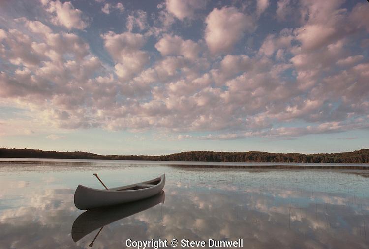 canoe on Gull Pond, Wellfleet, MA  Cape Cod