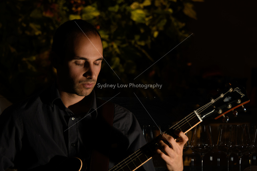 Melbourne, 7 May 2018 - Nick Kyritsis performing at Philippe restaurant. Photo Sydney Low