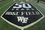 The Wake Forest Demon Deacons are celebrating 50 years of playing at what is now know as BB&T Field as they played host to the Towson Tigers on September 8, 2018 in Winston-Salem, North Carolina. The Demon Deacons defeated the Tigers 51-20. (Brian Westerholt/Sports On Film)