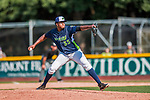 4 September 2017: Vermont Lake Monsters pitcher Jeferson Mejia on the mound during the first game against the Tri-City ValleyCats at Centennial Field in Burlington, Vermont. The Lake Monsters split their games, falling 6-5 in the first, then winning the second 7-4, thus clinching the NY Penn League Stedler Division Championship. Mandatory Credit: Ed Wolfstein Photo *** RAW (NEF) Image File Available ***