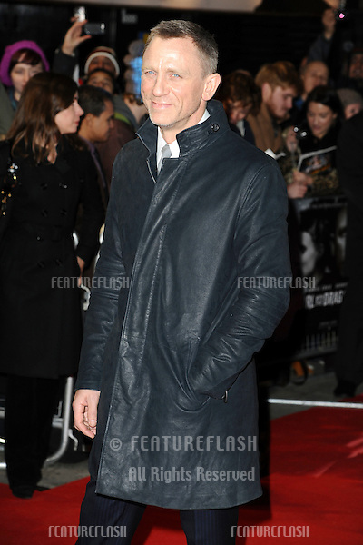 "Daniel Craig arriving for the premiere of ""The Girl with The Dragon Tattoo"" at the Odeon Leicester Square, London. 13/12/2011. Picture by: Steve Vas / Featureflash"