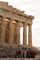 The crowning achievement of Greek civilization's golden age, the Doric temple of Parthenon sets high above the city of Athens.