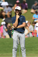 Tommy Fleetwood (ENG) on the 18th green during Saturday's Round 3 of the 2017 PGA Championship held at Quail Hollow Golf Club, Charlotte, North Carolina, USA. 12th August 2017.<br /> Picture: Eoin Clarke | Golffile<br /> <br /> <br /> All photos usage must carry mandatory copyright credit (&copy; Golffile | Eoin Clarke)