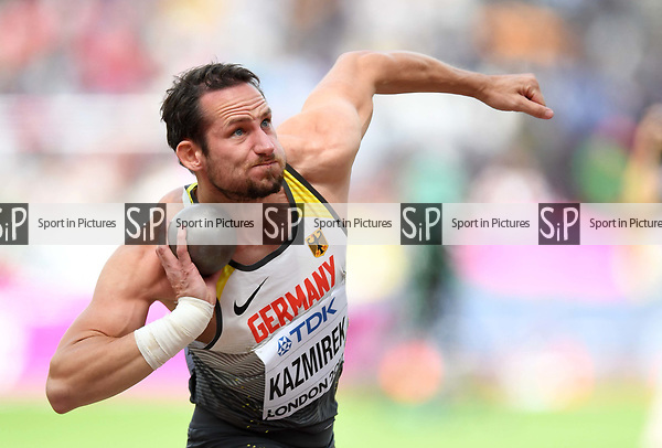 KaiKAZMIREK (GER) in the mens decathlon shot put. IAAF world athletics championships. London Olympic stadium. Queen Elizabeth Olympic park. Stratford. London. UK. 11/08/2017. ~ MANDATORY CREDIT Garry Bowden/SIPPA - NO UNAUTHORISED USE - +44 7837 394578