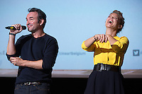 Jean Dujardin & Virginie Efira attend the Movie Premiere of ' Un homme à la Hauteur ' - Belgium