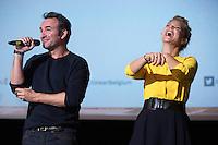 Jean Dujardin & Virginie Efira attend the Movie Premiere of ' Un homme à la Hauteur ' - Belgium