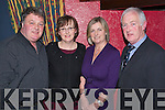 FUNDRAISER: Enjoying a great night out at a fundraiser for Fenit Lifeboat in the Tankard Restaurant, Fenit on Saturday night were l-r: Tim and Liz Landers with Eileen and Ger O'Donnell. .