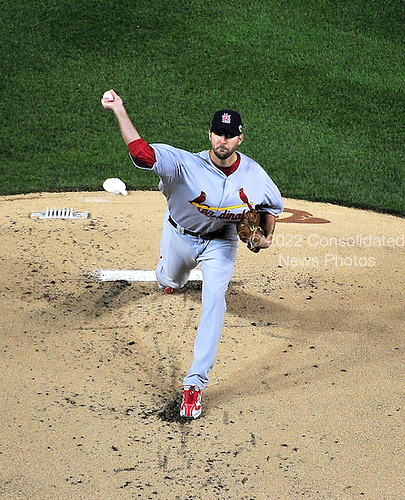 St. Louis Cardinals pitcher Adam Wainwright (50) works in the first inning of game 5 of the NLDS against the Washington Nationals at Nationals Park in Washington, D.C. on Friday, October 12, 2012.  The Cardinals won the game and the series 9 - 7..Credit: Ron Sachs / CNP