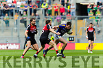 Jack Barry Kerry in action against Tom Parsons and Lee KeeganMayo in the All Ireland Semi Final Replay in Croke Park on Saturday.