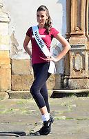 OURO PRETO, MG, 20.09.2013 - MISS BRASIL 2013 - Miss Paraíba, Patrícia dos Anjos candidata a Miss Brasil 2013 durante visita a cidade historica de Ouro Preto a 100 km de Belo Horizonte. (Foto: Eduardo Tropia / Brazil Photo Press)