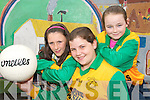 ON THE BALL: Tina Mangan, Meagan Roche and Eda Mangan, members of the Knocknagoshel National Schools GAA Skills team that won the Castleisland District Schools Football Skills Finals.   Copyright Kerry's Eye 2008