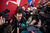 Geraint Thomas (GBR/Ineos)  post race interview<br /> <br /> Stage 15: Limoux to Foix Prat d'Albis (185km)<br /> 106th Tour de France 2019 (2.UWT)<br /> <br /> ©kramon