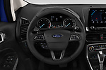 Car pictures of steering wheel view of a 2018 Ford Ecosport Business Class 5 Door SUV
