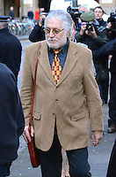 Dave Lee Travis (Real Name: David Patrick Griffin)  attends Southwark Crown Court on 14/01/2014. Picture by: Jim Pearson / Featureflash