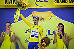 Race leader Julian Alaphilippe (FRA) Deceuninck-Quick Step retains the Yellow Jersey at the end of Stage 4 of the 2019 Tour de France running 213.5km from Reims to Nancy, France. 9th July 2019.<br /> Picture: ASO/Pauline Ballet | Cyclefile<br /> All photos usage must carry mandatory copyright credit (© Cyclefile | ASO/Pauline Ballet)