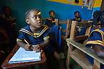 Children during class in a day care center in Monrovia, Liberia, sponsored by United Methodist Women.