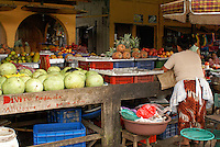 Fruit market in the village of Ataco in western El Salvador