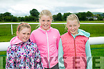 l-r  Caoimhe Sugrue, Amber Sugrue and Ava Sugrue enjoying the  Castleisland races in Powells road Castleisland on Saturday