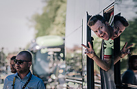 Simon Clarke (AUS/Cannondale-Drapac) happy to be here<br /> <br /> 104th Tour de France 2017<br /> Stage 5 - Vittel &rsaquo; La Planche des Belles Filles (160km)