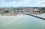 Ryde.<br /> The Solent is the strait that separates the Isle of Wight from the mainland of England. It is about 20 miles long and varies in width between two and a half and five miles, <br /> The Solent is a major shipping lane for passenger, freight and military vessels.