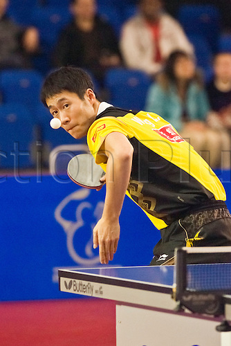 29.01.2011 English Open ITTF Pro Tour Table Tennis from the EIS in Sheffield. Liqin Wang of China