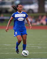 Boston Breakers defender Kia McNeill (14).  In a National Women's Soccer League Elite (NWSL) match, Sky Blue FC defeated the Boston Breakers, 3-2, at Dilboy Stadium on June 16, 2013