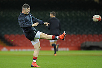 Steff Evans of Wales during the Wales Captains Run at The Principality Stadium in Cardiff, Wales, UK. Friday 16 November 2018