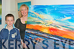 .Michelle O'Donnell from Lisselton with her son Sean showes off one of the paintings she had on display at the art Exhibition in The Blue Gallery, Listowel on Friday night   Copyright Kerry's Eye 2008