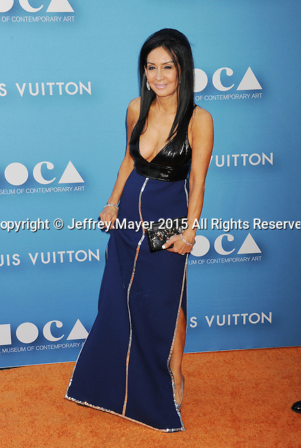 LOS ANGELES, CA - MAY 30:  MOCA Board Member NJ Goldston arrives at the 2015 MOCA Gala presented by Louis Vuitton at The Geffen Contemporary at MOCA on May 30, 2015 in Los Angeles, California.