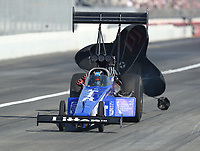 Nov 11, 2018; Pomona, CA, USA; NHRA top fuel driver Bill Litton during the Auto Club Finals at Auto Club Raceway. Mandatory Credit: Mark J. Rebilas-USA TODAY Sports