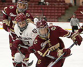 Megan Keller (BC - 4), Karly Heffernan (Harvard - 27), Tori Sullivan (BC - 9) - The visiting Boston College Eagles defeated the Harvard University Crimson 2-0 on Tuesday, January 19, 2016, at Bright-Landry Hockey Center in Boston, Massachusetts.