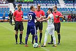 16.07.2017, Stadion an der Bremer Bruecke, Osnabrueck, GER, FSP VfL Osnabrueck vs SV Werder Bremen<br /> <br /> im Bild<br /> Henrik Bramlage (Linienrichter / Assistent referee), Arne Aarnink (Schiedsrichter / referee), Franz Bokop (Linienrichter / ssistent referee), Christian Gro&szlig; (VfL Osnabrueck #10), Zlatko Junuzovic (Werder Bremen #16), <br /> <br /> Foto &copy; nordphoto / Ewert