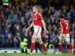 Middlesbrough's Ben Gibson looks on dejected after Chelsea's second goal during the Premier League match at Stamford Bridge Stadium, London. Picture date: May 8th, 2017. Pic credit should read: David Klein/Sportimage