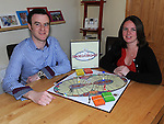 Richard Kelly and his wife Maggie pictured with their new board game 'Smorgasboard'. Photo: Colin Bell/pressphotos.ie