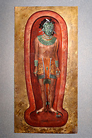 Painting of Mayan Lord Pakal in the National Museum of Anthropology, Mexico City