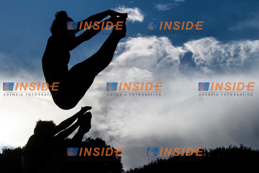 Jennifer Abel, Pamela Ware Canada <br /> 3m Sincro Trampolino <br /> Roma 20-06-2016 Stadio del Nuoto Foro Italico Tuffi Campionati Italiani <br /> Foto Andrea Staccioli Insidefoto