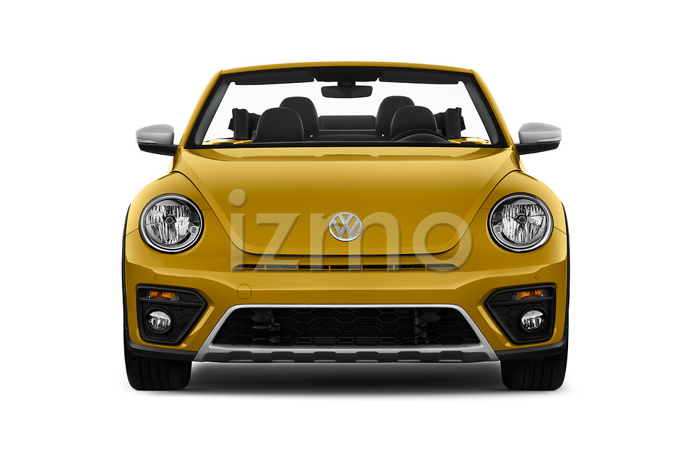 Car photography straight front view of a 2017 Volkswagen Beetle Dune 3 Door Hatchback Front View